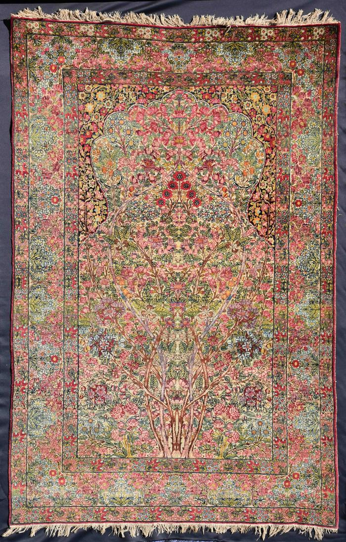 Persian rug from Hatley Park. Craigdarroch Castle Collection 2016.9.1